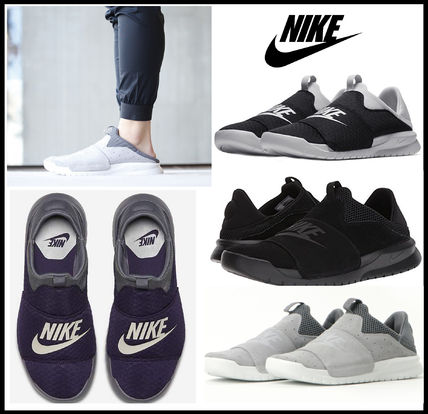 ... Nike Loafers & Slip-ons Unisex Suede Blended Fabrics Street Style  Loafers ...