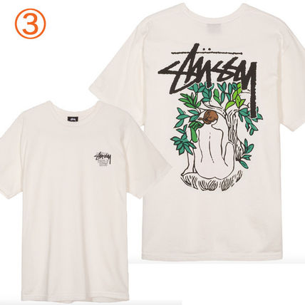 STUSSY Crew Neck Crew Neck Pullovers Tropical Patterns Unisex Street Style 6