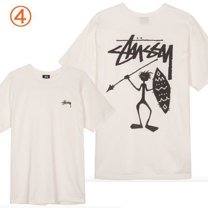 STUSSY Crew Neck Crew Neck Pullovers Tropical Patterns Unisex Street Style 7