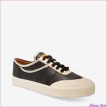 BALLY Plain Toe Casual Style Plain Leather Low-Top Sneakers