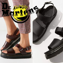 Dr Martens VOSS Platform Casual Style Plain Leather Platform & Wedge Sandals