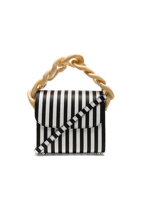 Stripes Casual Style Leather Shoulder Bags