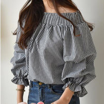 Gingham Casual Style Medium Bandeau & Off the Shoulder