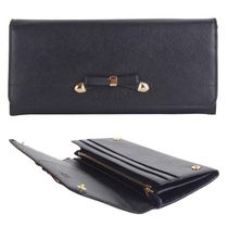 PRADA SAFFIANO VERNICE Plain Leather Long Wallets