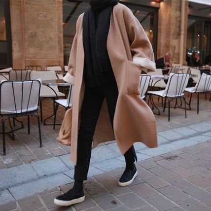 Casual Style Street Style Plain Cotton Long Color Liner