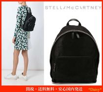 Stella McCartney FALABELLA Casual Style Chain Plain Leather Backpacks