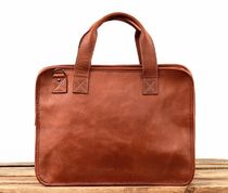 PAUL MARIUS A4 3WAY Plain Leather Office Style Totes