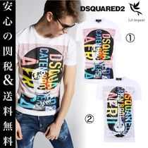 D SQUARED2 Crew Neck Street Style Other Animal Patterns Cotton