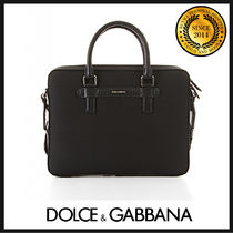Dolce & Gabbana 2WAY Plain Leather Business & Briefcases