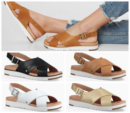 64d6c61f339 UGG Australia 2018 SS Open Toe Casual Style Plain Leather Footbed Sandals  by rasta4life - BUYMA