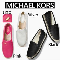 Michael Kors Round Toe Casual Style Plain Slip-On Shoes