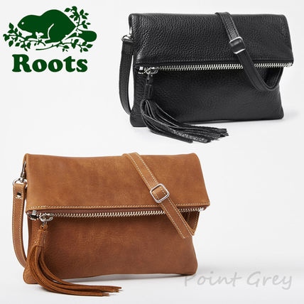 2c027c1709 Casual Style Tassel 2WAY Plain Leather Shoulder Bags. Roots