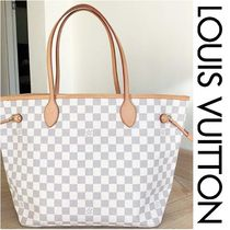 Louis Vuitton NEVERFULL Other Plaid Patterns Canvas Blended Fabrics A4 Bi-color