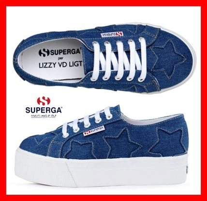Star Platform Lace-up Casual Style Street Style