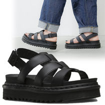 Dr Martens YELENA Platform Casual Style Plain Leather Footbed Sandals