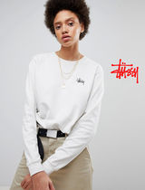 STUSSY Casual Style Street Style Long Sleeves Cotton T-Shirts