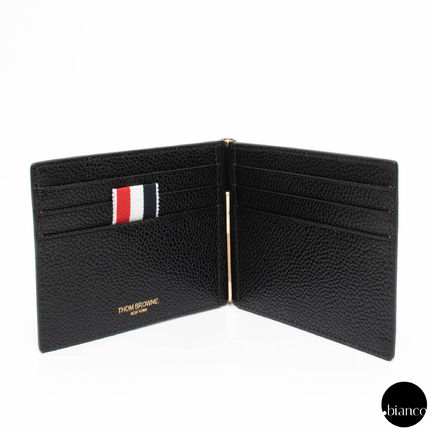 Stripes Unisex Saffiano Folding Wallets