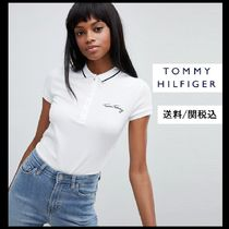 Tommy Hilfiger Casual Style Plain Cotton Short Sleeves Polo Shirts