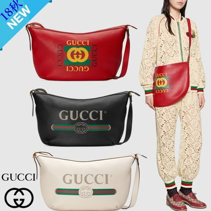 4b4fb4d7744a ... GUCCI Messenger & Shoulder Bags Unisex A4 2WAY Plain Leather Messenger  & Shoulder ...