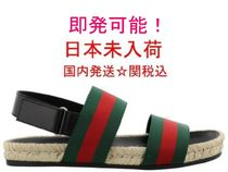 GUCCI Stripes Street Style Plain Loafers & Slip-ons