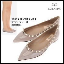 VALENTINO Leather Elegant Style Flats