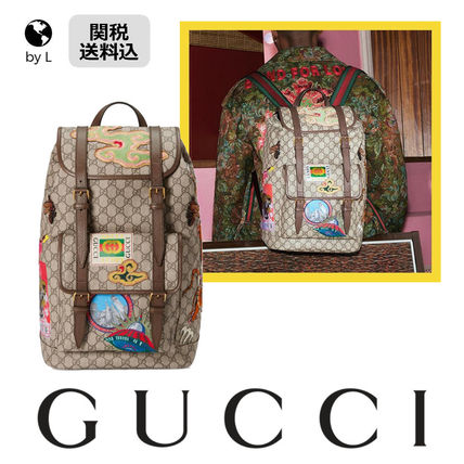 8c2ed59ca95 ... GUCCI Backpacks Casual Style Canvas Other Animal Patterns Backpacks ...