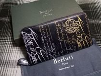 Berluti Unisex Leather Long Wallet  Long Wallets