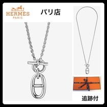HERMES Costume Jewelry Silver With Jewels Elegant Style
