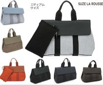 Casual Style Unisex Street Style A4 Bi-color Plain Leather