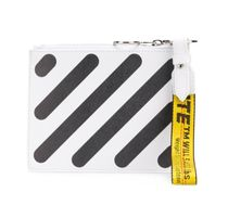Off-White Stripes Street Style Leather Wallets & Small Goods