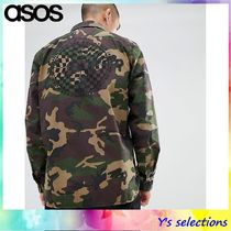 VANS Camouflage Long Sleeves Cotton Shirts