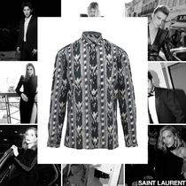 Saint Laurent Casual Style Street Style Long Sleeves Cotton Long