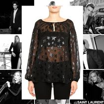 Saint Laurent Star Casual Style Silk Street Style Long Sleeves Medium