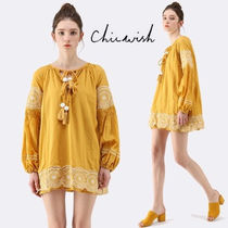 Chicwish Tassel Long Sleeves Cotton Tunics