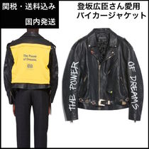 BALENCIAGA Street Style Leather Long Oversized Biker Jackets
