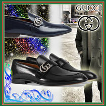 GUCCI Moccasin Leather U Tips Loafers & Slip-ons