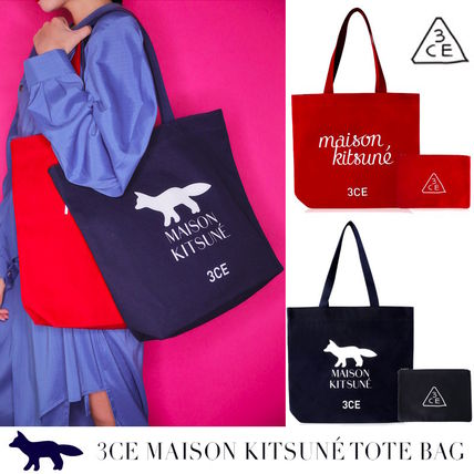Casual Style Cambus Collaboration Totes