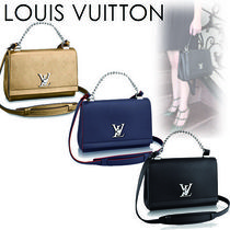 Louis Vuitton LOCKME Casual Style 2WAY Plain Leather Shoulder Bags