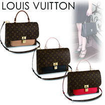 Louis Vuitton MARIGNAN Monogram Casual Style Canvas Blended Fabrics 2WAY Handbags