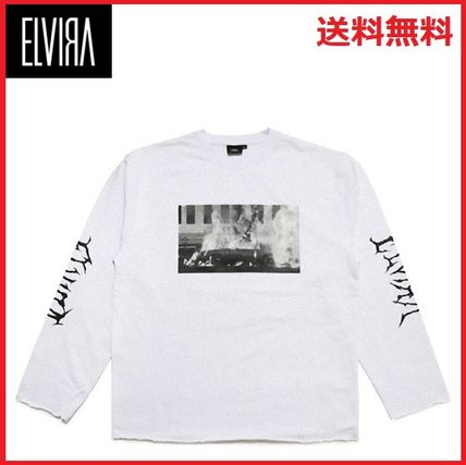 Crew Neck Unisex Street Style Long Sleeves