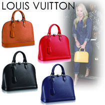 Louis Vuitton ALMA Casual Style 2WAY Plain Leather Handbags