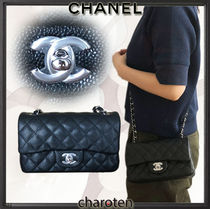 CHANEL TIMELESS CLASSICS Calfskin 3WAY Chain Plain Elegant Style Shoulder Bags