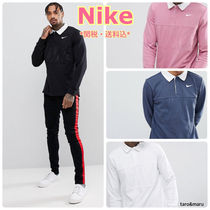 Nike Pullovers Street Style Long Sleeves Plain Cotton Polos