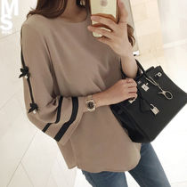 Bi-color Cropped Medium Elegant Style Shirts & Blouses