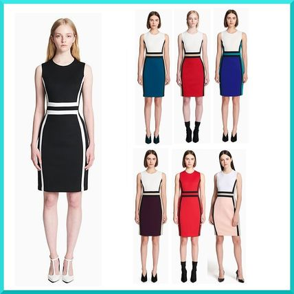3a4f4bcf826f7 ... Calvin Klein Dresses Tight Sleeveless Bi-color Medium Elegant Style  Dresses ...