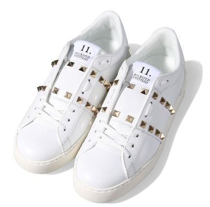 VALENTINO Low-Top Studded Plain Low-Top Sneakers 2