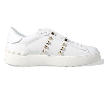 VALENTINO Low-Top Studded Plain Low-Top Sneakers 7