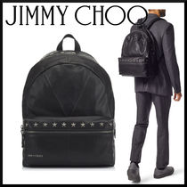 Jimmy Choo Star Camouflage Studded A4 Leather Backpacks