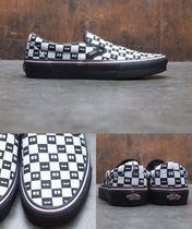 VANS SLIP ON Other Check Patterns Casual Style Street Style Collaboration