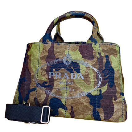 PRADA Totes Camouflage Casual Style Unisex Canvas A4 2WAY Totes 2